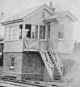helston signal box on day of first train 1887