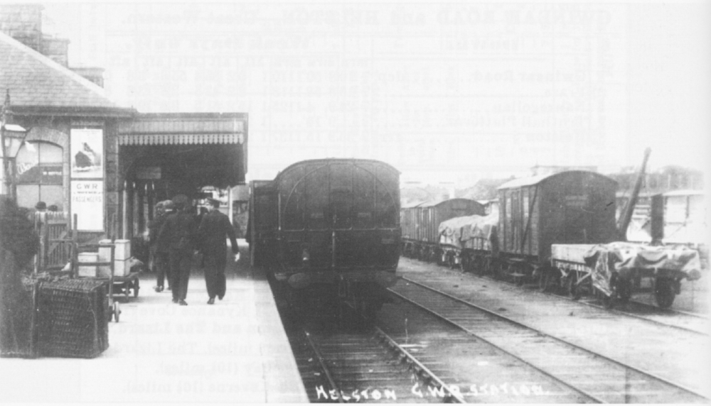 helston station around 1910 with original crane - lens of sutton