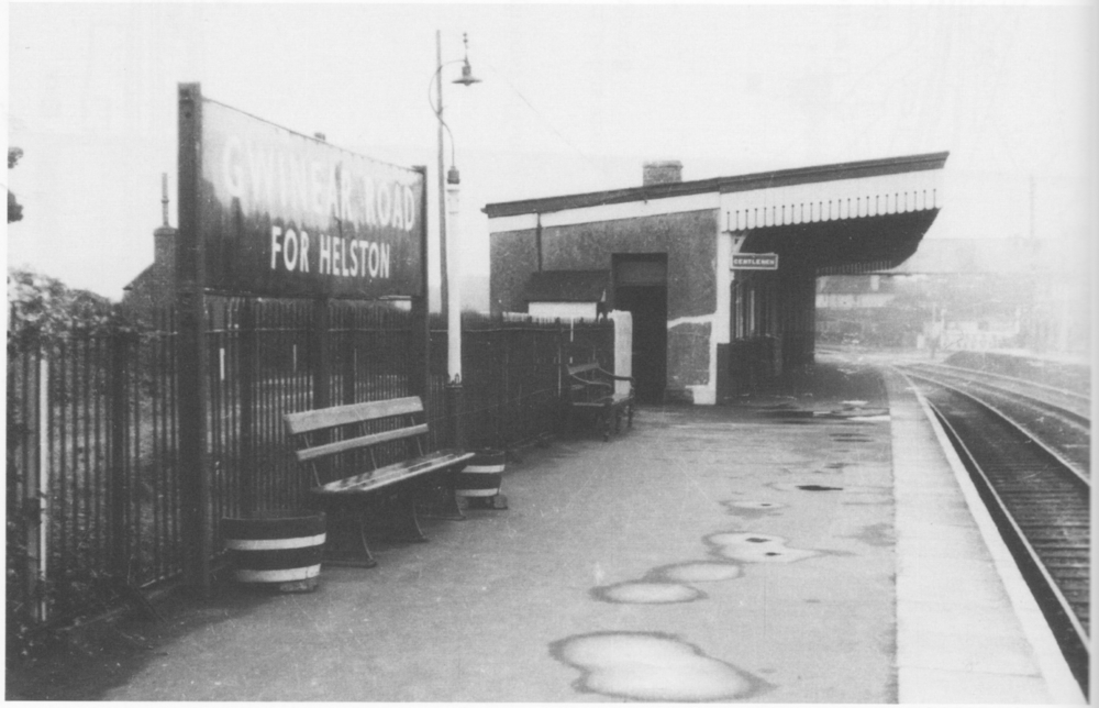 up platform station building c. 1960